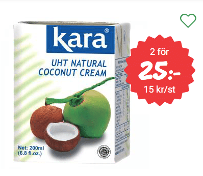 Kokosgrädde billigt knäck recept veganskt mjölkfritt