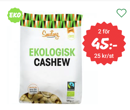 Cashewnötter billigt