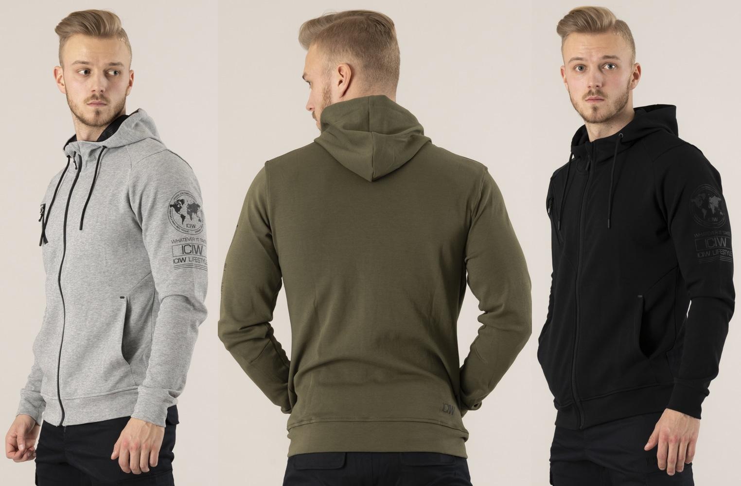i can i will hoodie herr träning hoodie blixtlås män iciw