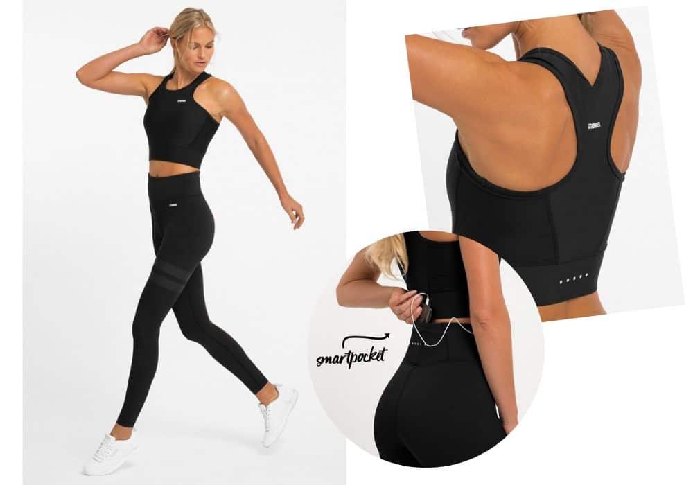 Svart set Stronger träningskläder