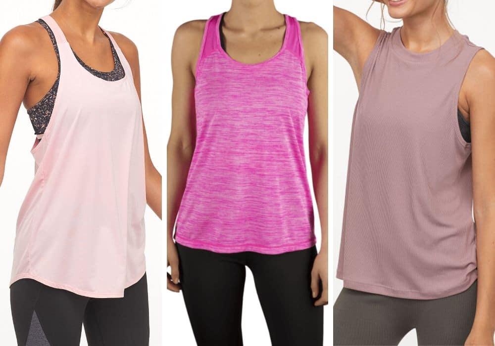 Billigt träningslinne rosa färg