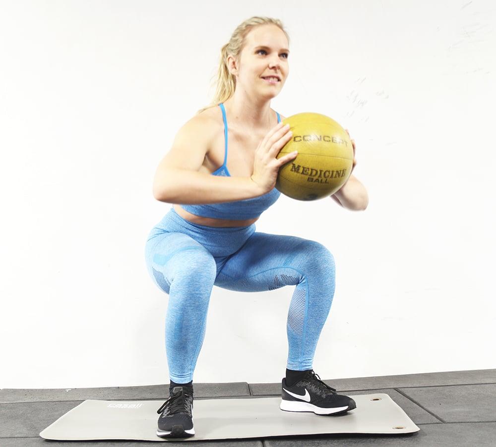 burpees övning upphopp med boll