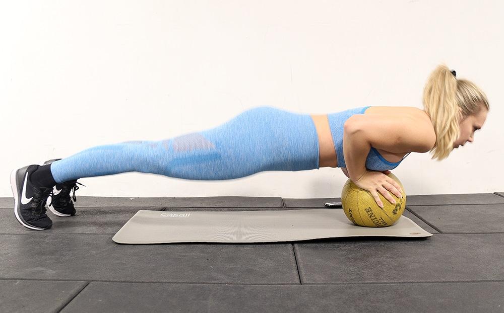 plankan på boll övning