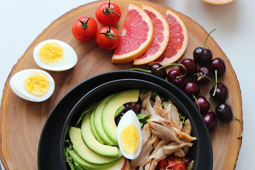 proteinrik mat sallad med protein