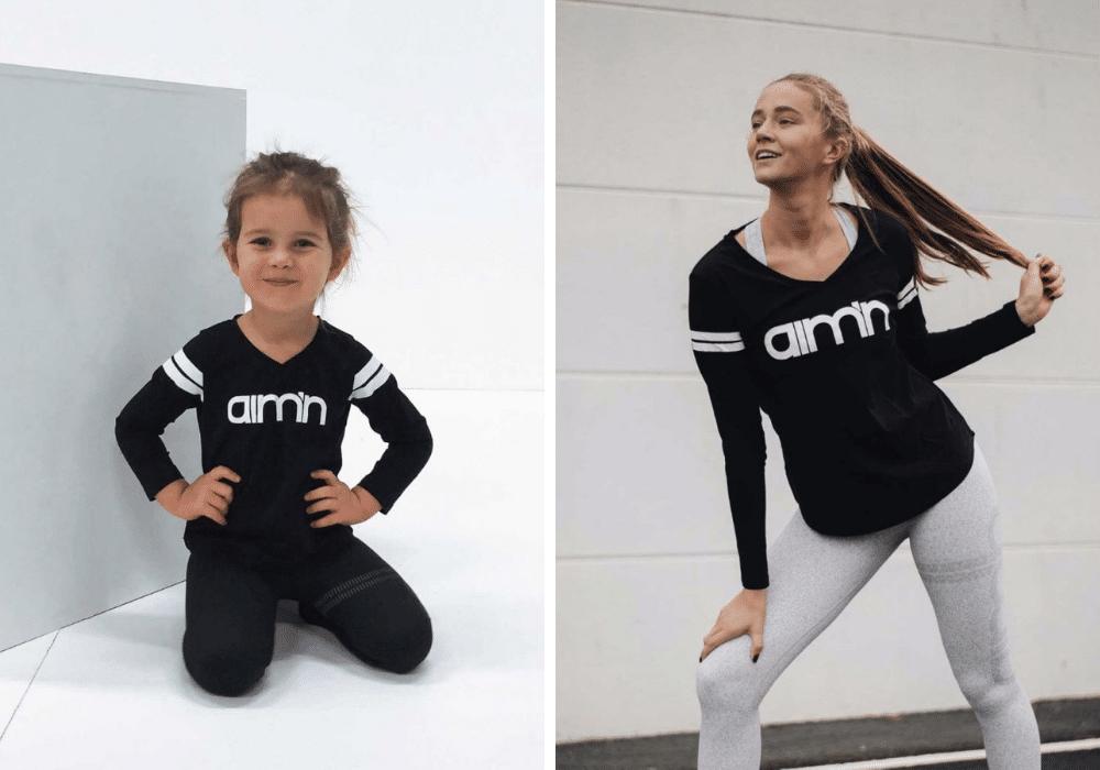 Matchande träningströja mamma dotter