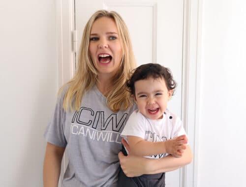 Matchande kläder mamma dotter träningskläder I can I will