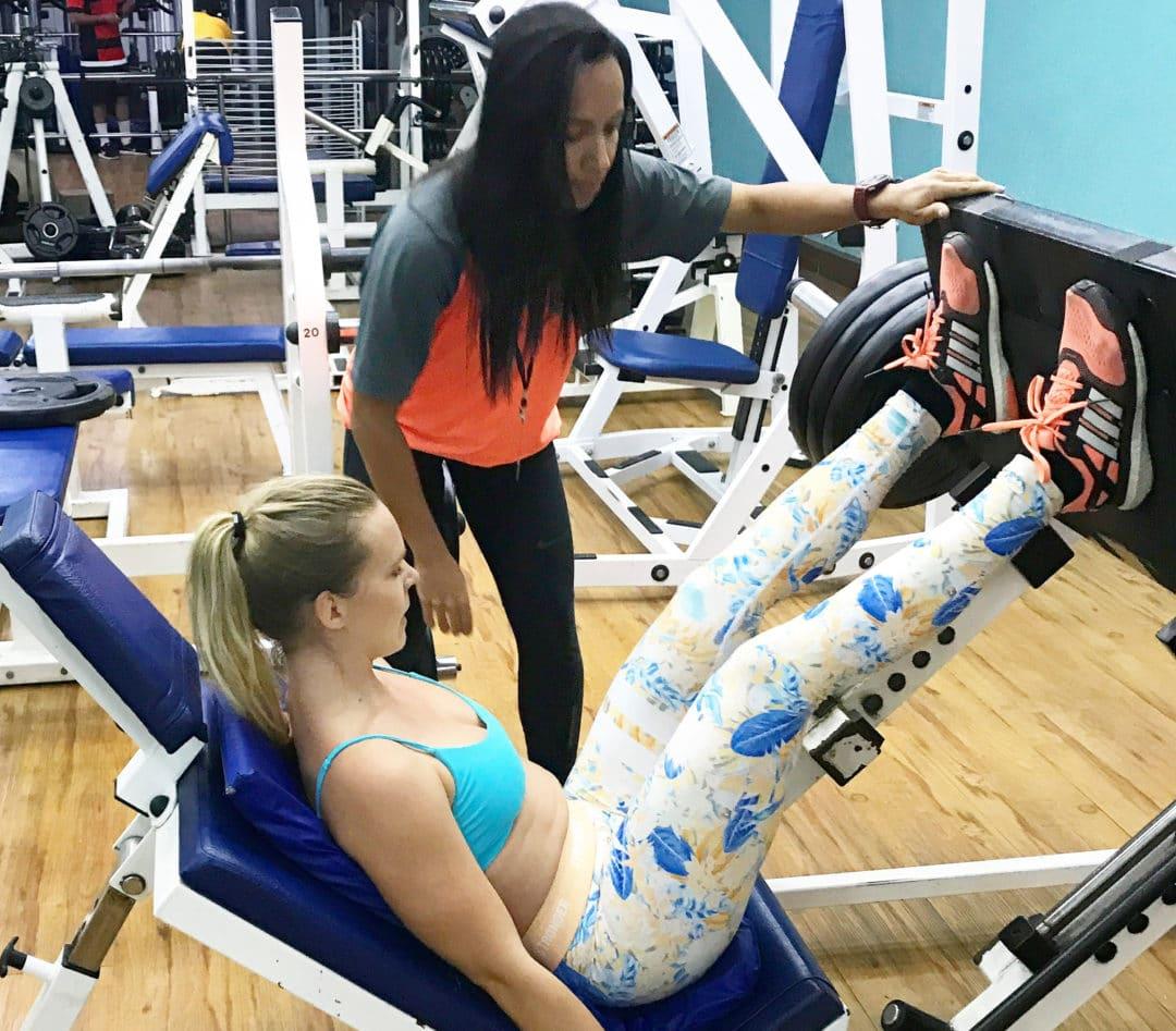 benpress övning knän
