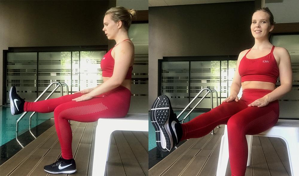 träning ont i knäna övningar