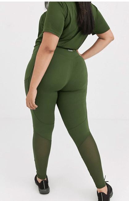 Gröna träningstights större storlekar