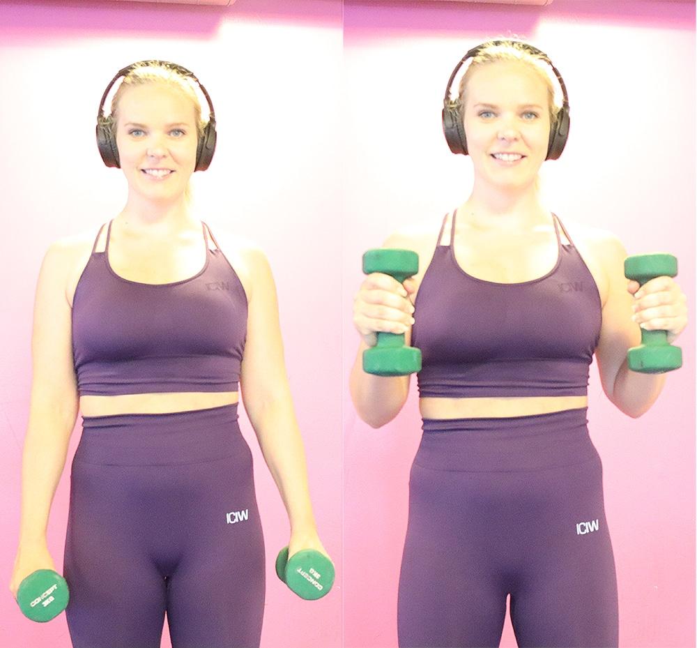 hammer biceps curls träning överarmar