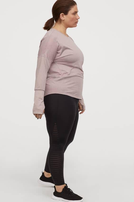 Svarta tränings tights stora storlekar