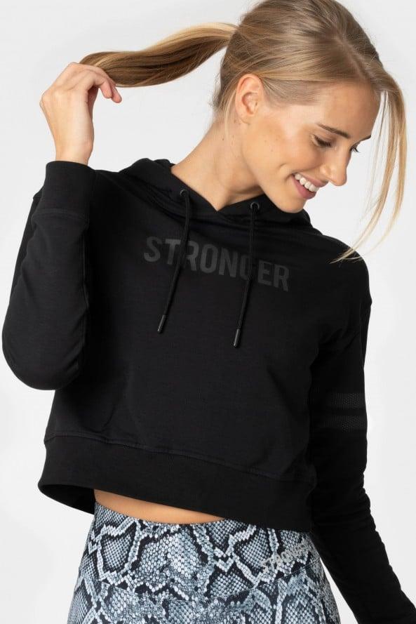 svart stronger hoodie dam