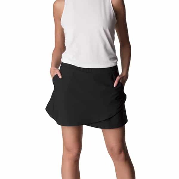löparkjol med tights svart skort träningskjol