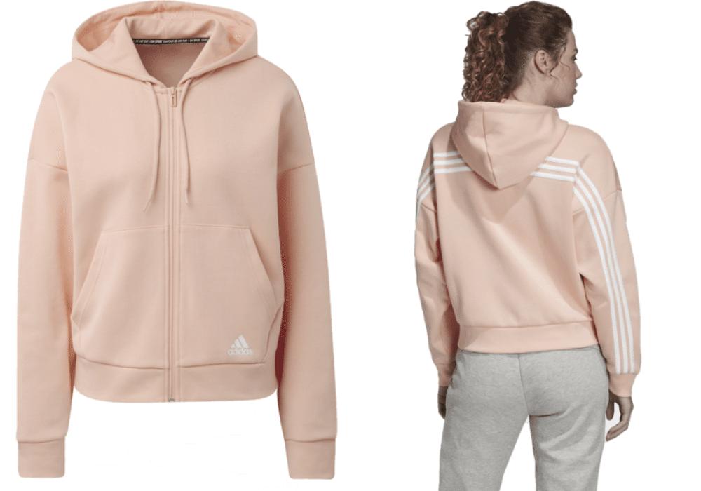 Rosa Hoodie Adidas träningströja