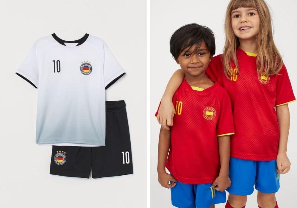 Fotbollströja barn tyskland spanien