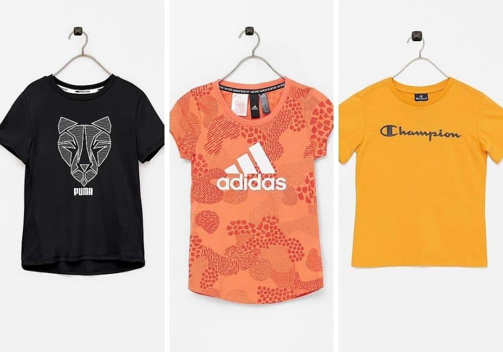 Träningströja barn t-shirt adidas puma champion
