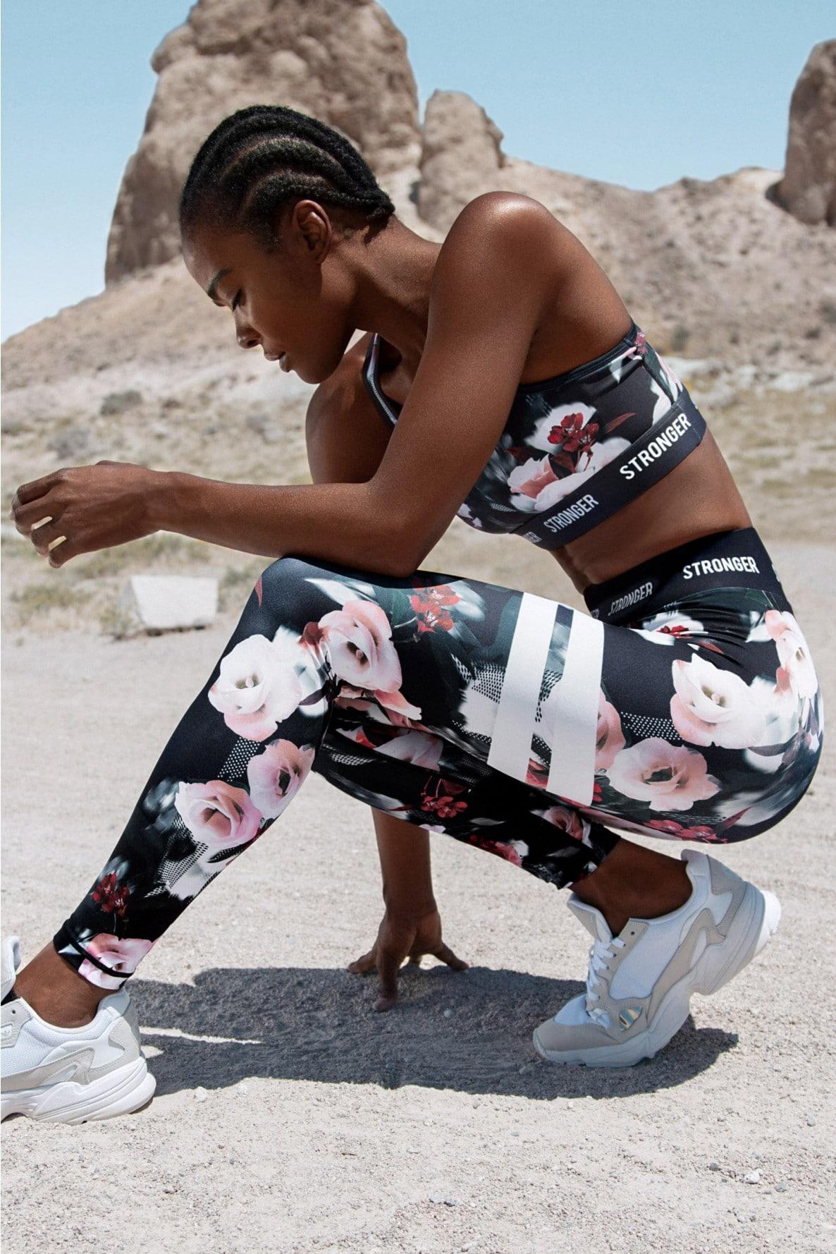 Squat proof tights Stronger blommiga träningstights Tribeca