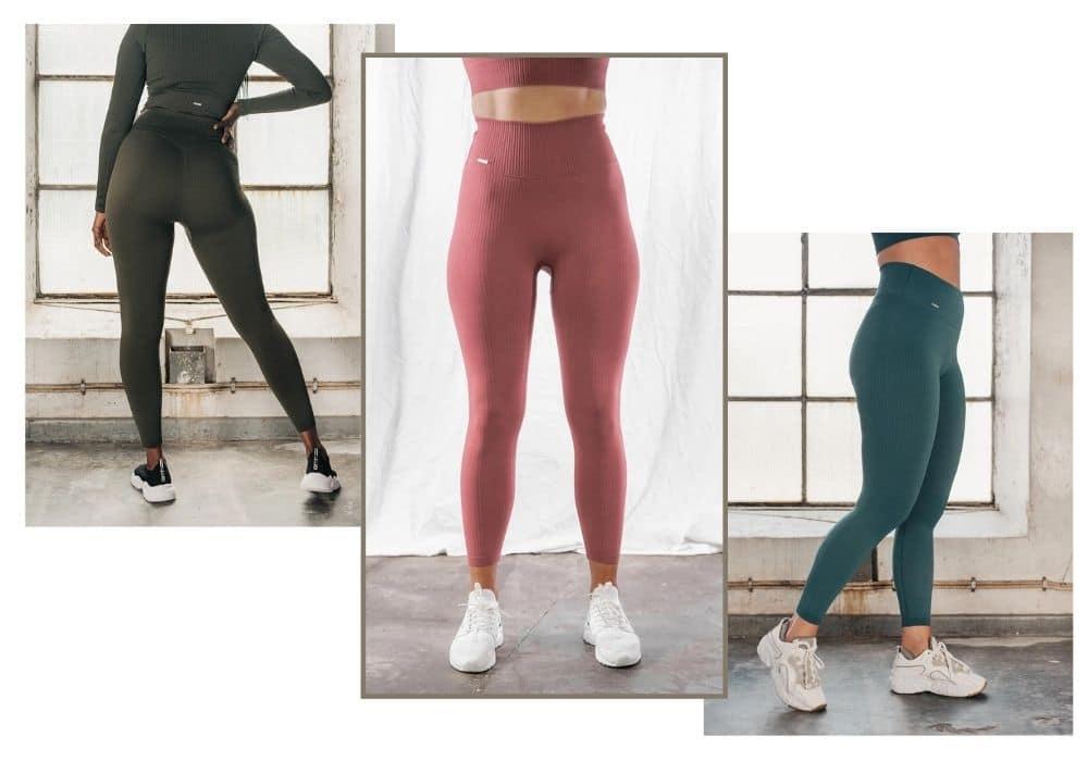 Aimn ribbade träningstights finns i många olika härliga färger.
