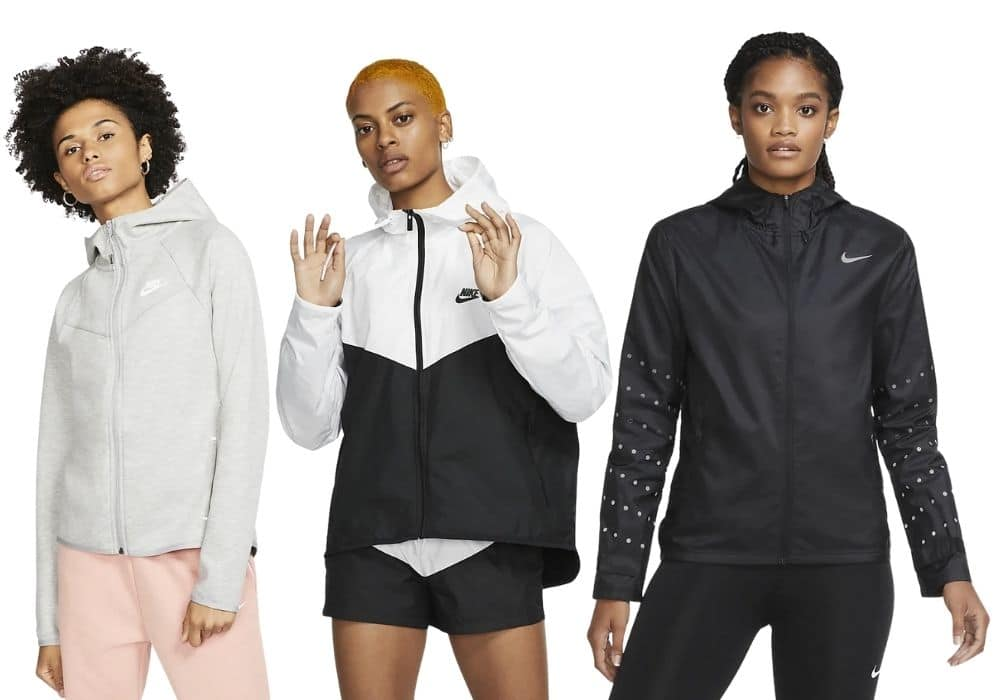 Nike träningsjacka svart vit löpning