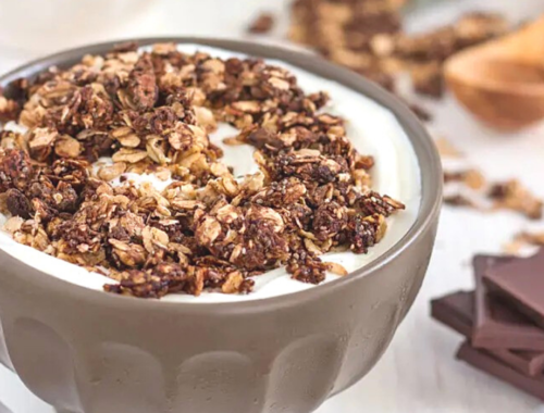 Chokladgranola recept choklad muesli musli