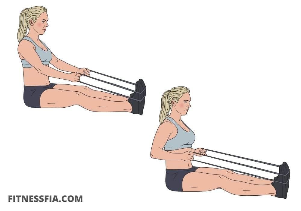 Rodd övning med gummiband