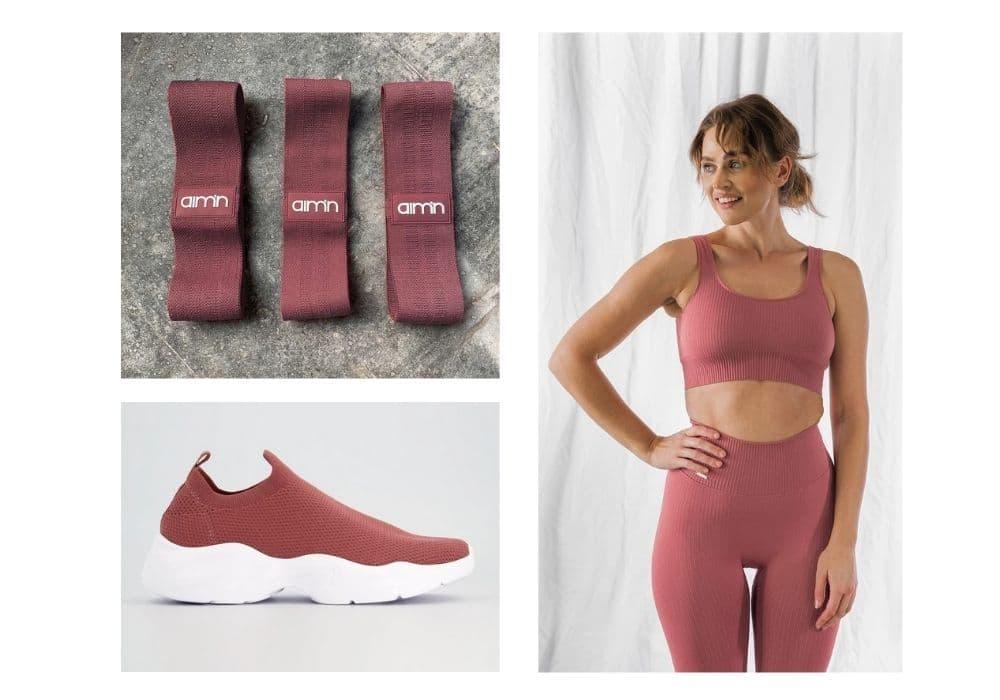 Rosa träningskläder
