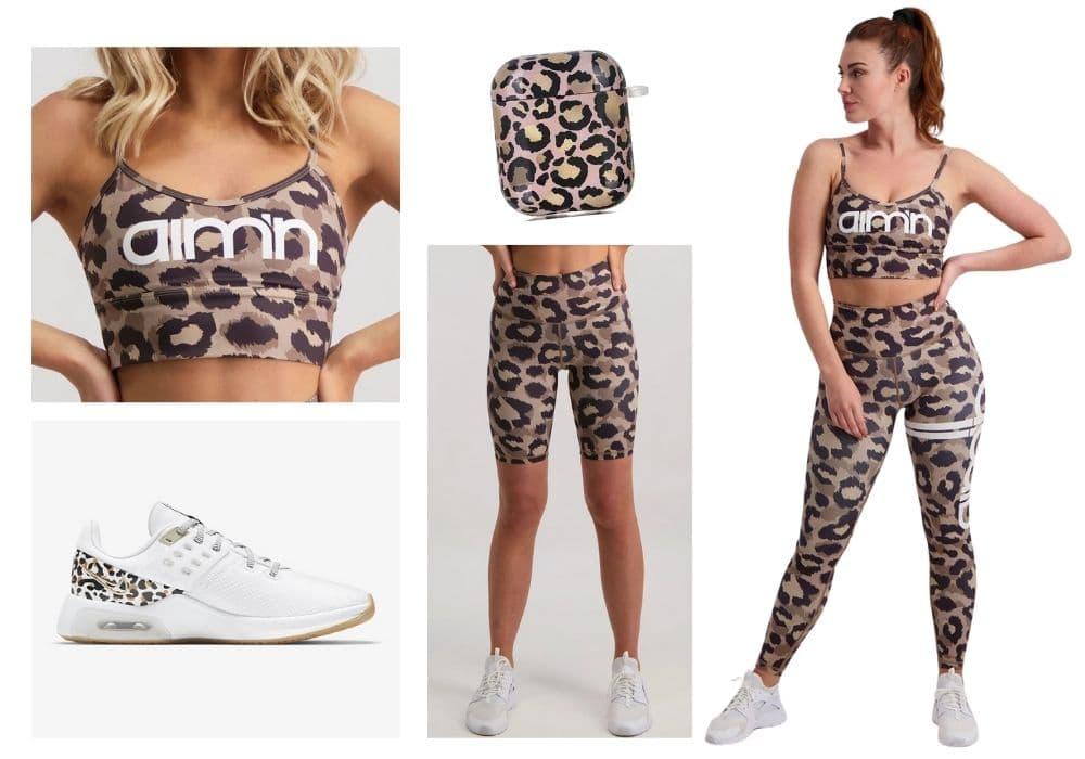 Träningsoutfit leopard träningskläder