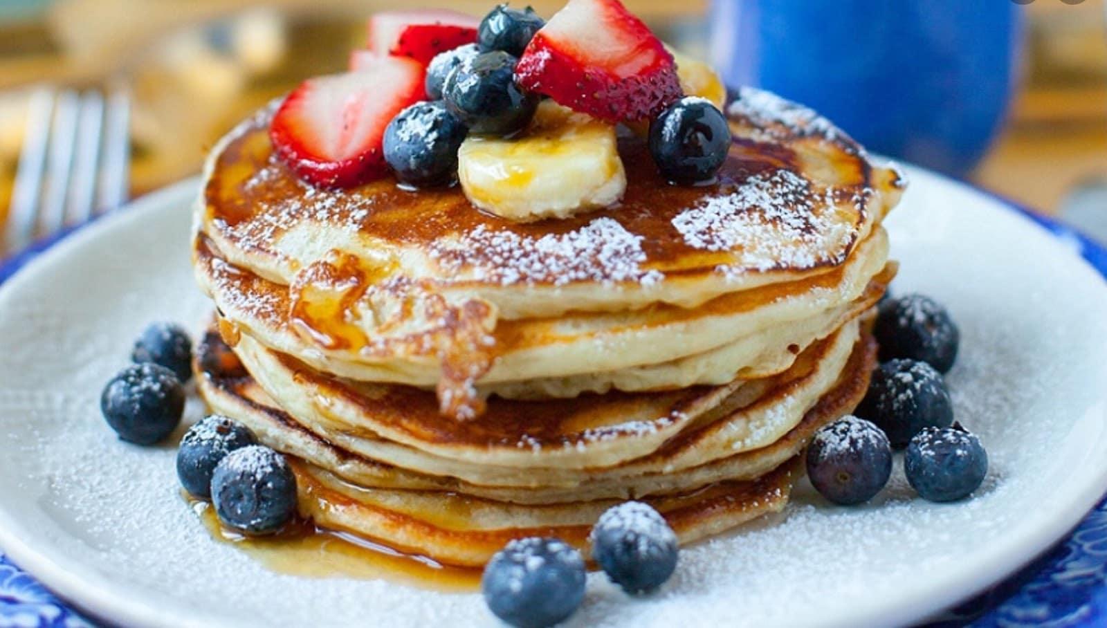 proteinpannkakor frukost med mycket protein