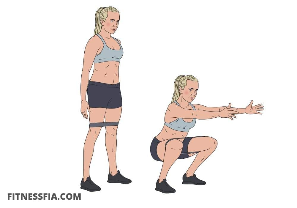 Minibands squats med gummiband