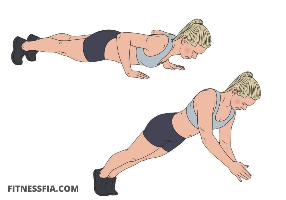 Plyometriska armhävningar svåra tyngre armhävningar bröst