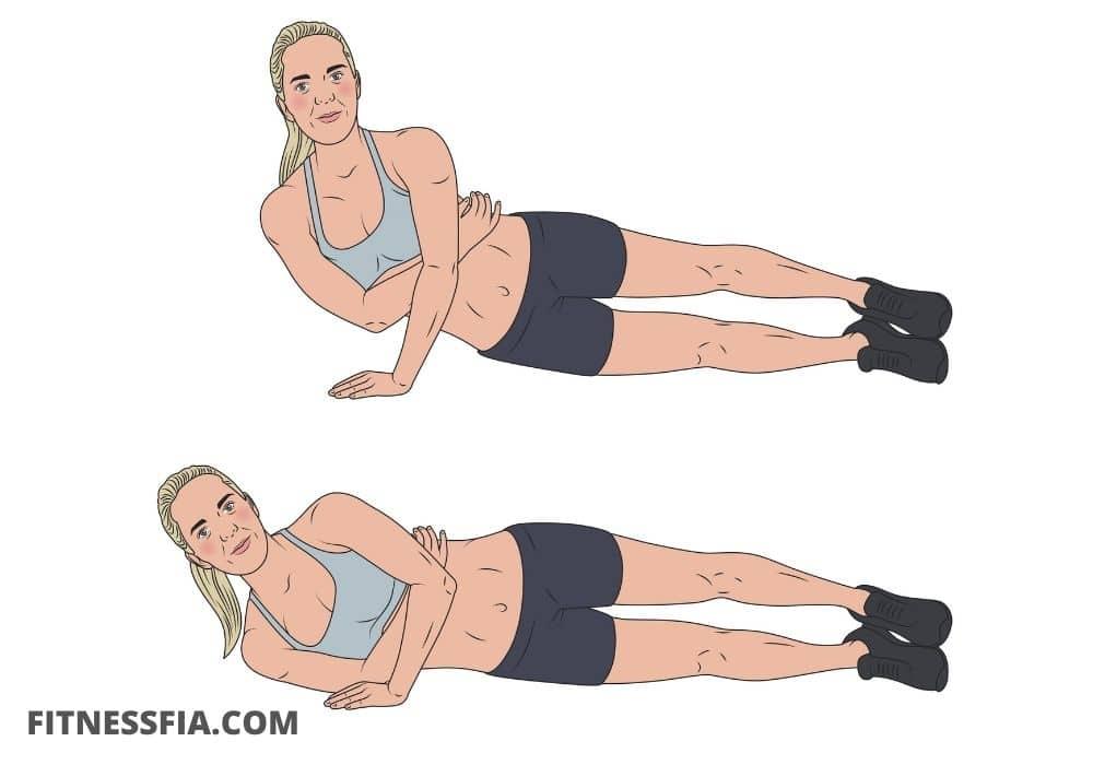 Triceps armhävningar på en arm armhävning på sidan