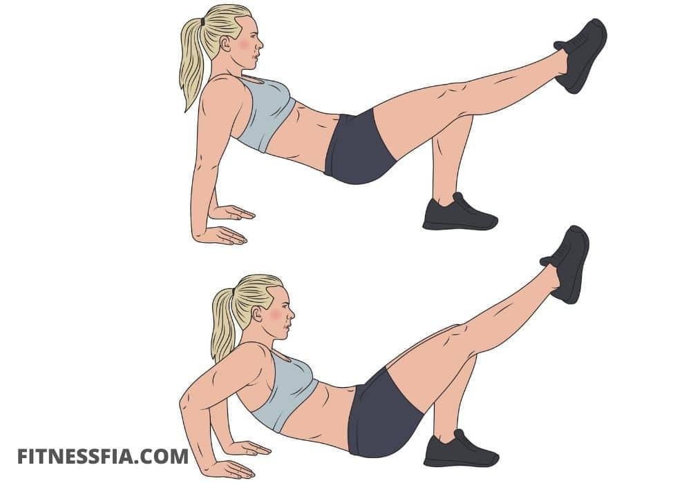 Triceps dips ett ben, triceps hemmaträning