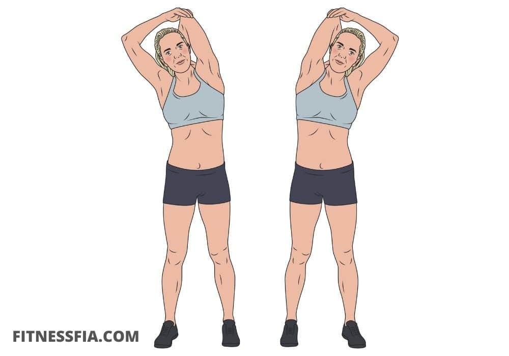 Triceps stretch övning