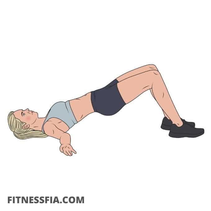 Bryggan yoga stretch framsida lår