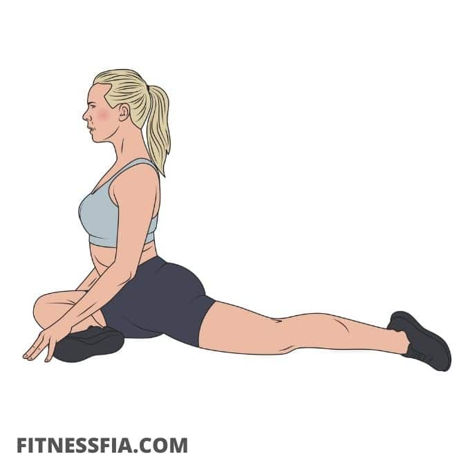Duvan yoga stretch höftböjare