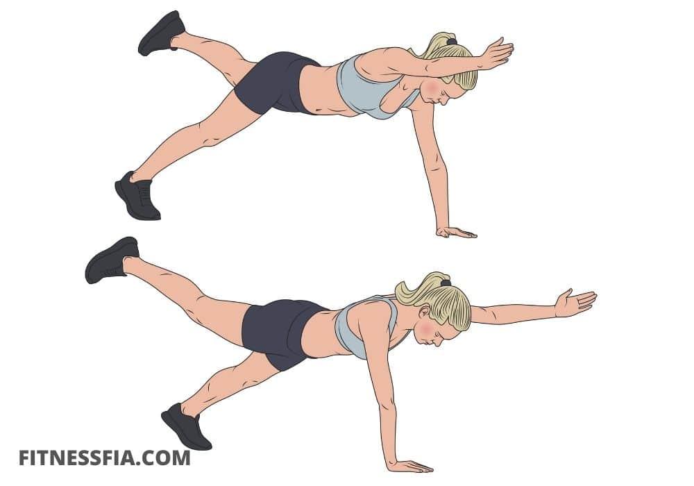 Plankan övning alternativ träna mage hemma