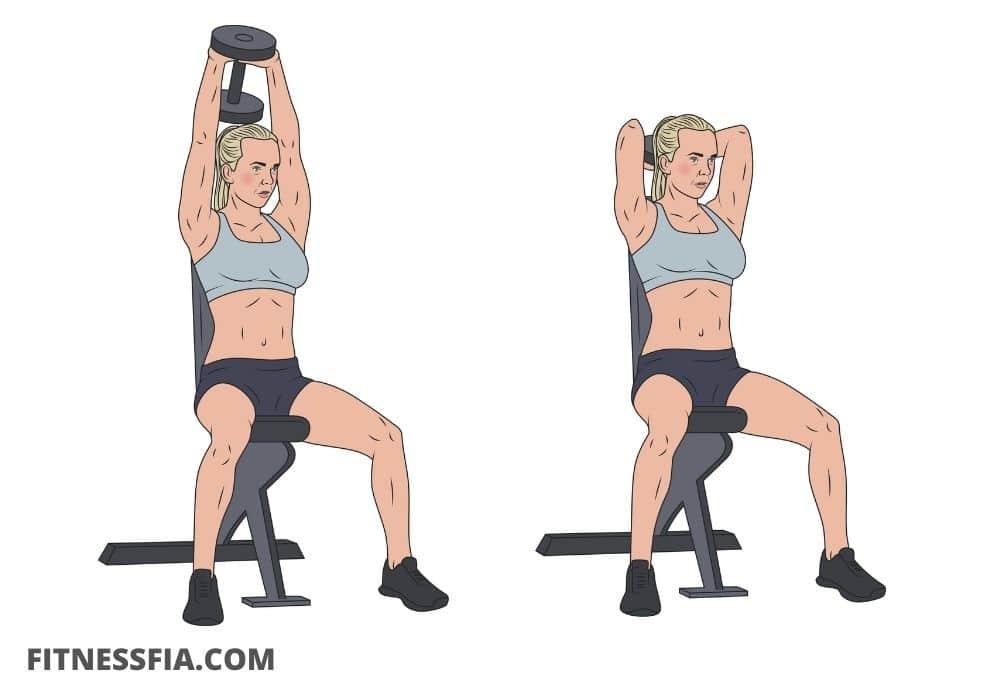 Sittande tricepspress träna triceps gym