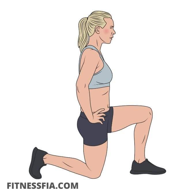 Stretcha bäcken ljumske stretch