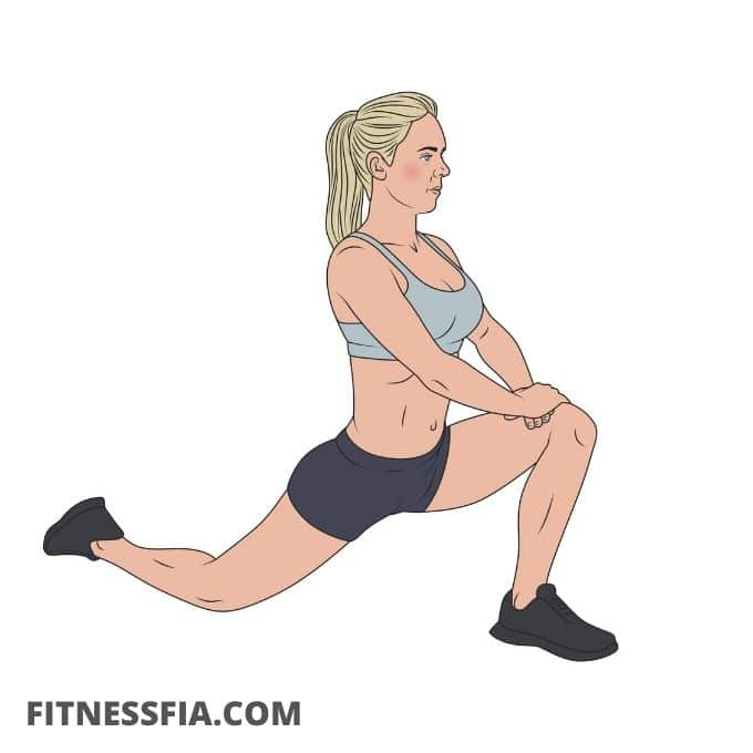 Stretcha höftböjaren lågt utfall low lunge