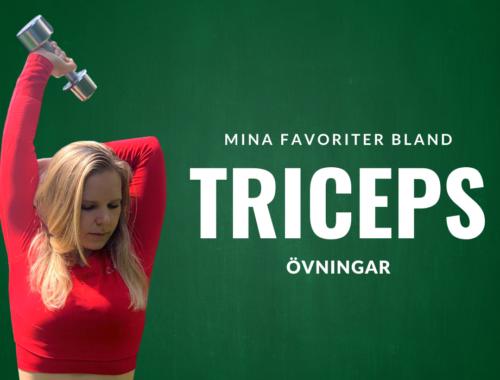 Träna triceps tricepsövningar hemma gymmet
