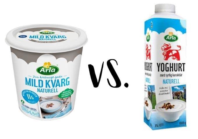 Är kvarg bättre än yoghurt