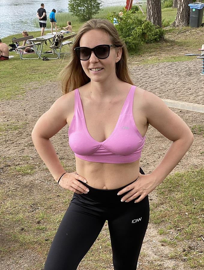 Define adjustable sport-bh knäppning bak