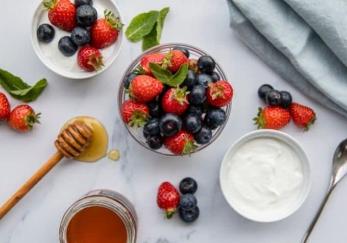 Kvarg nyttig frukost näringsvärde
