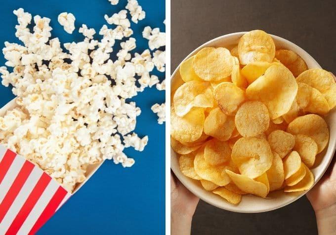 popcorn vs chips mest kalorier