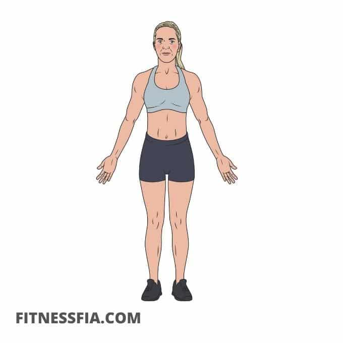 Berget yoga position