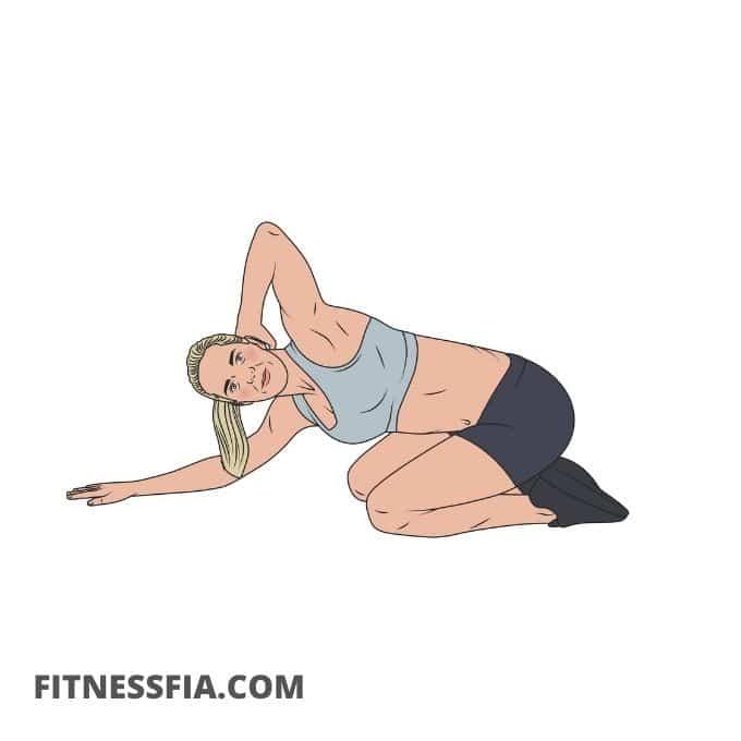 Stretcha bröst och rygg ryggrotation