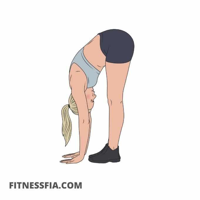 Framåtböj stretch yoga