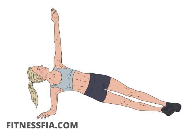 Sidoplanka övning hållning