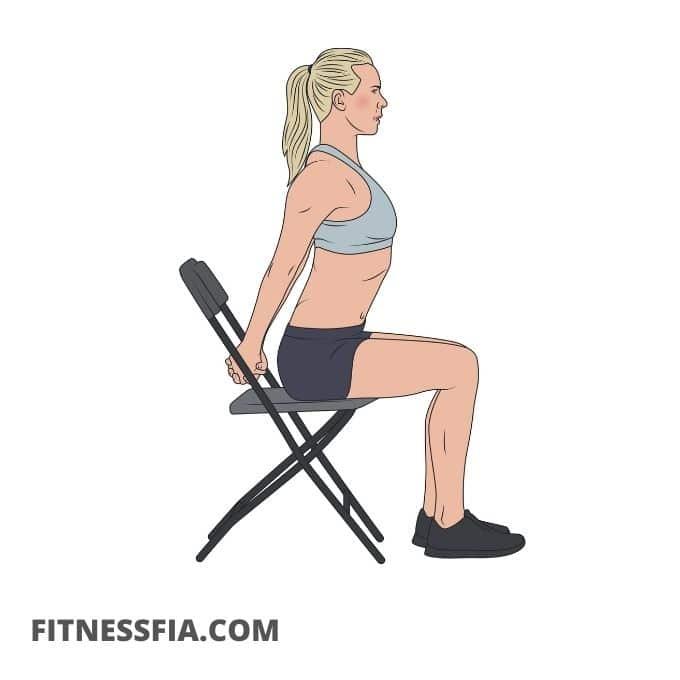 Stolstretch rygg nacke axlar skuldror