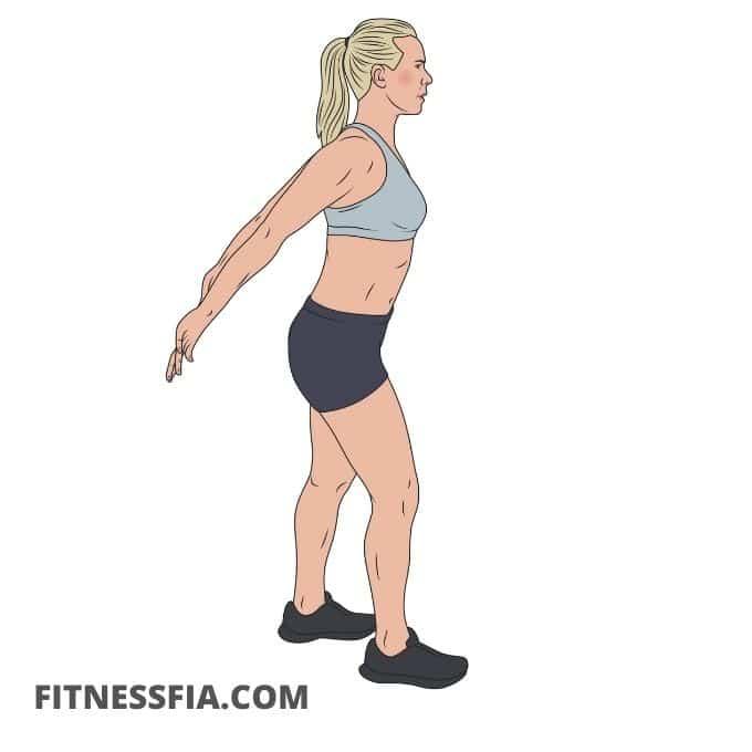 Stretcha bröstet hållning